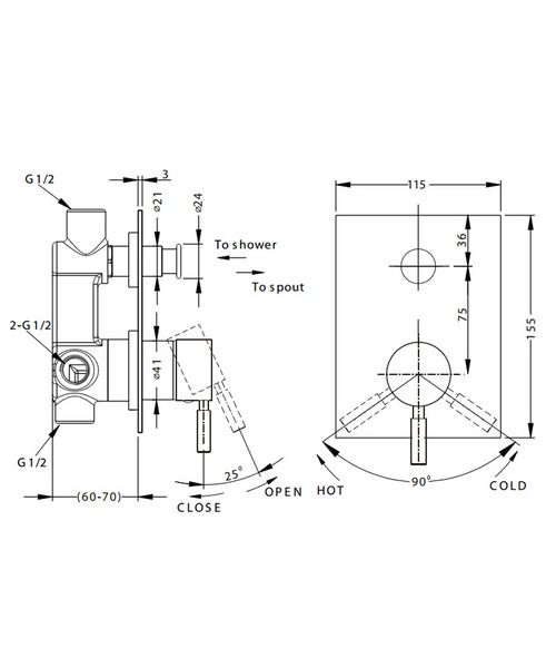 Technical drawing 13326 / DE0005RC