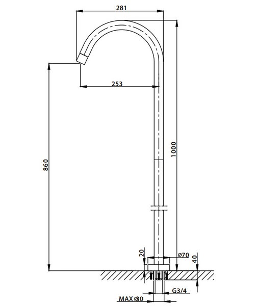 Technical drawing 13331 / DE0370FC