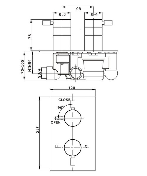 Technical drawing 13333 / DE1000RC