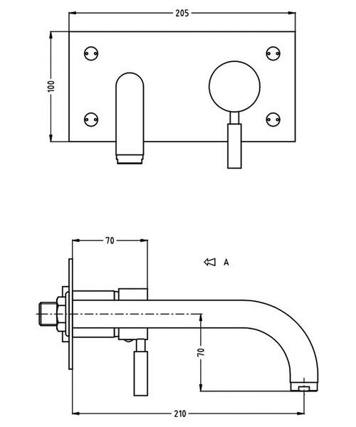 Technical drawing 13340 / DE121WNC