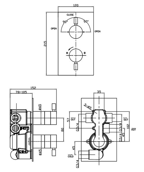 Technical drawing 13342 / DE1500RC