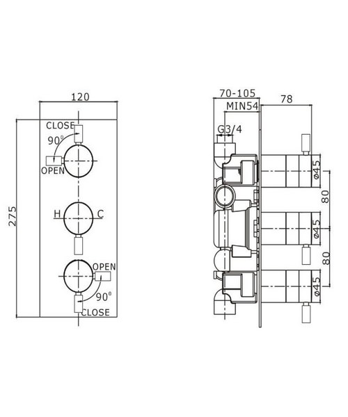 Technical drawing 13344 / DE2000RC