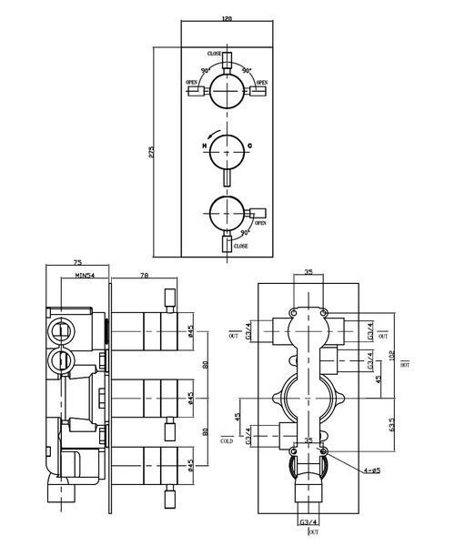Technical drawing 13347 / DE3000RC