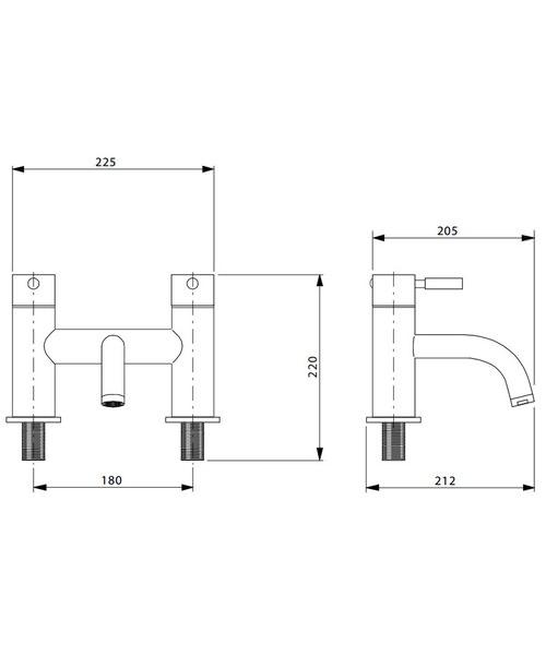 Technical drawing 13350 / DE322DC