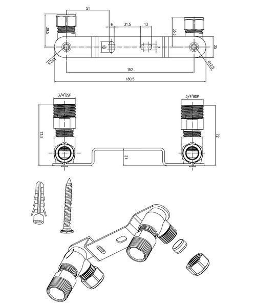 Technical drawing 13544 / WA023