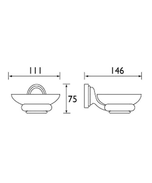 Technical drawing 1368 / J DISH C