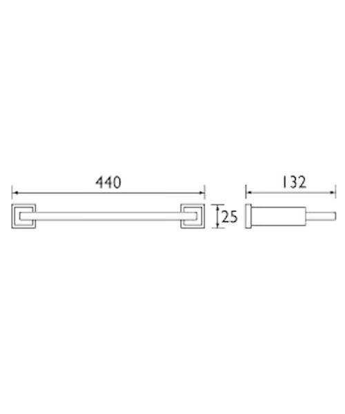 Technical drawing 1398 / QU SHELF C