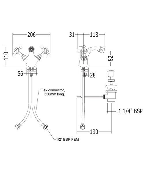 Technical drawing 14027 / XO60200100W