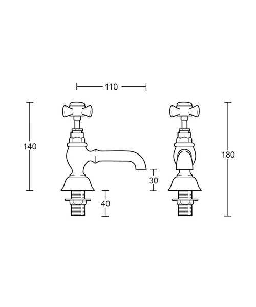 Technical drawing 14040 / XG61600100