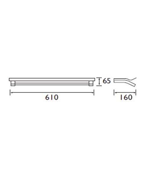 Technical drawing 1436 / TW SHELF C