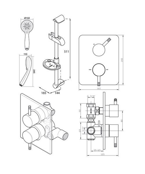 Technical drawing 14395 / UNTHDCMX