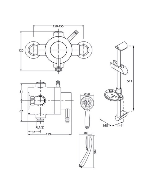 Technical drawing 14397 / UNTHEXCM
