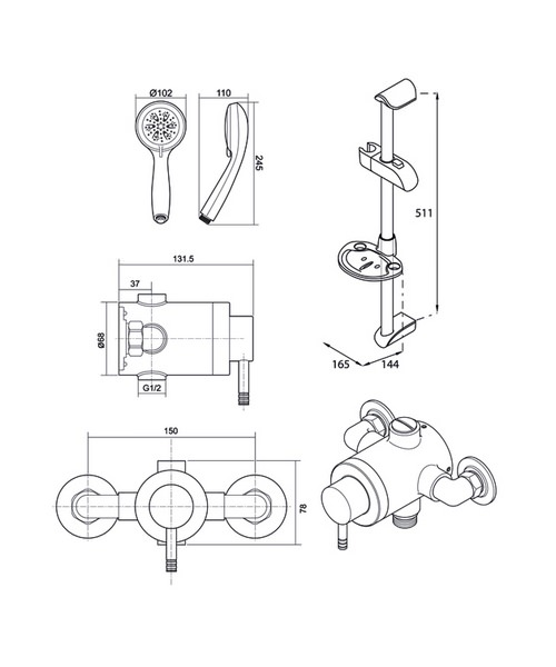 Technical drawing 14400 / UNTHTHEXSM