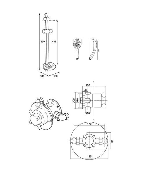 Technical drawing 14408 / UNMETHBTSM