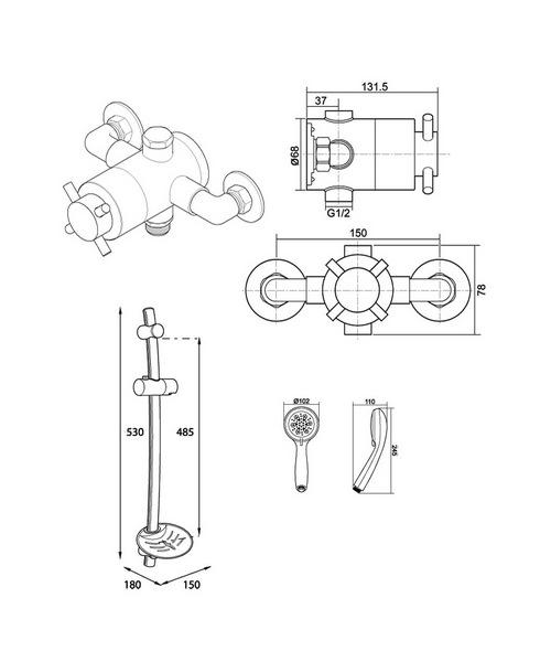 Technical drawing 14409 / UNMETHEXSM