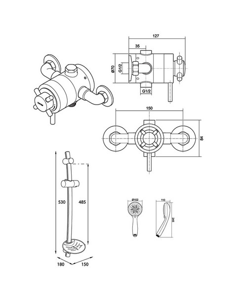 Technical drawing 14411 / UNMEEXCM