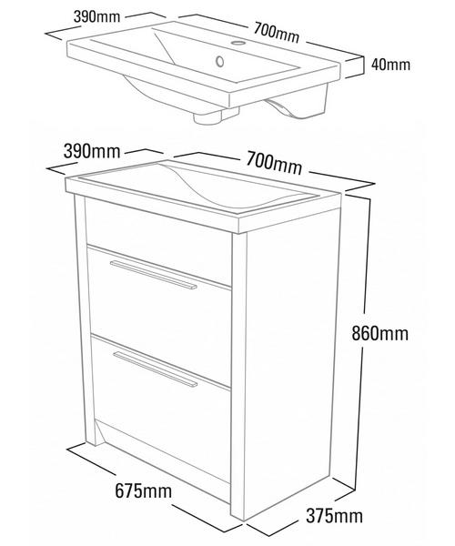 Technical drawing 14553 / KA700W
