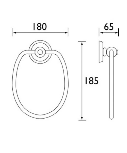Technical drawing 1455 / N RING C