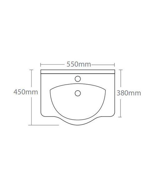 Technical drawing 14582 / EDBT550W