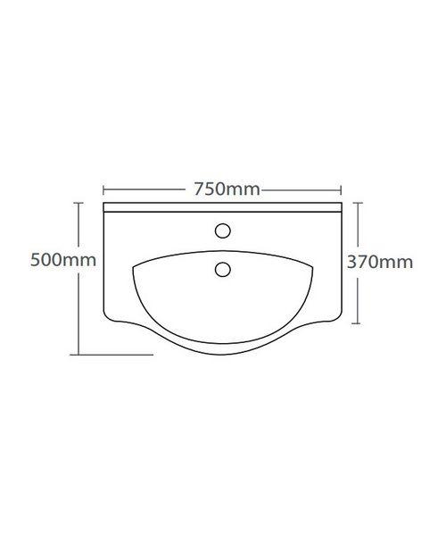 Technical drawing 14586 / EDBT750W