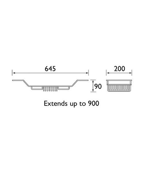 Technical drawing 1465 / N RACK C