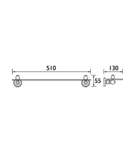 Technical drawing 1475 / N SHELF C