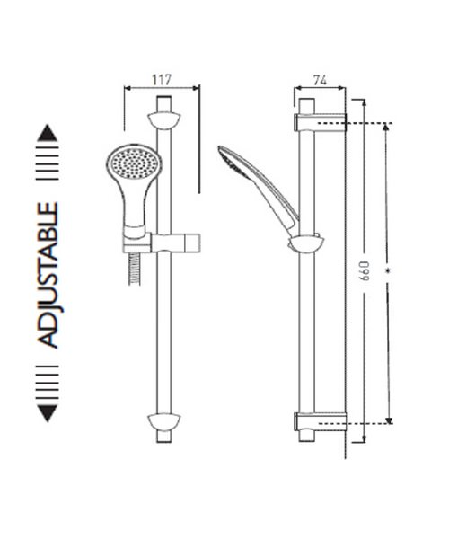 Technical drawing 1494 / EVC KIT01 C