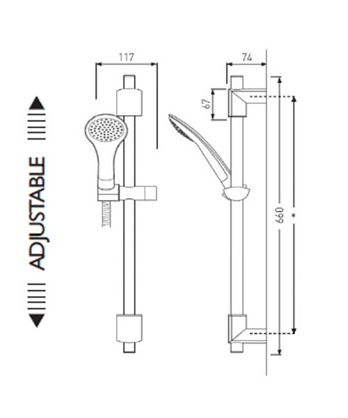Technical drawing 1495 / EVC KIT02 C
