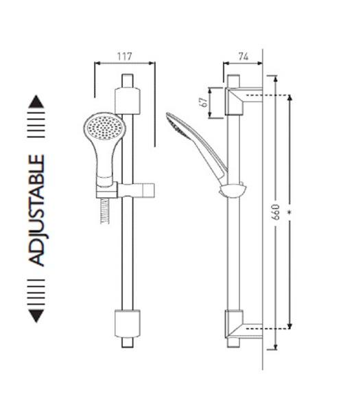 Technical drawing 1495 / EVC KIT02 C
