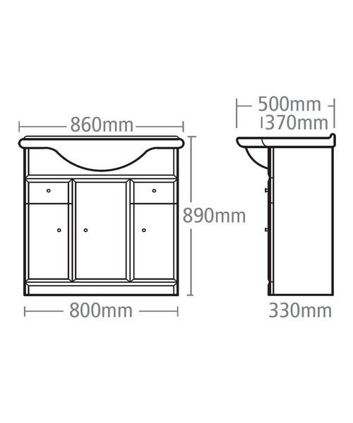 Technical drawing 15234 / VB800W