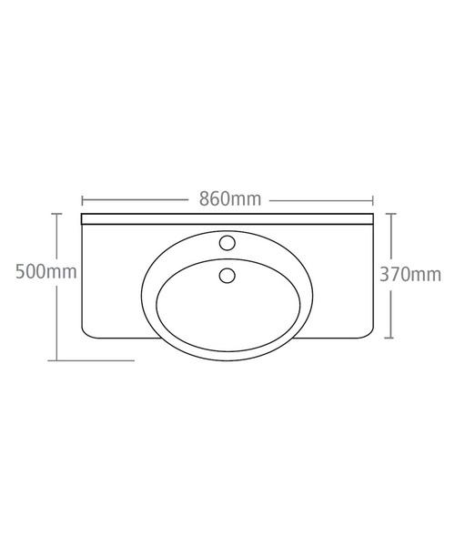 Technical drawing 15236 / BT860W