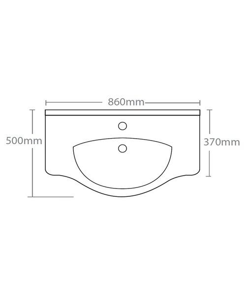 Technical drawing 15237 / EDBT860W