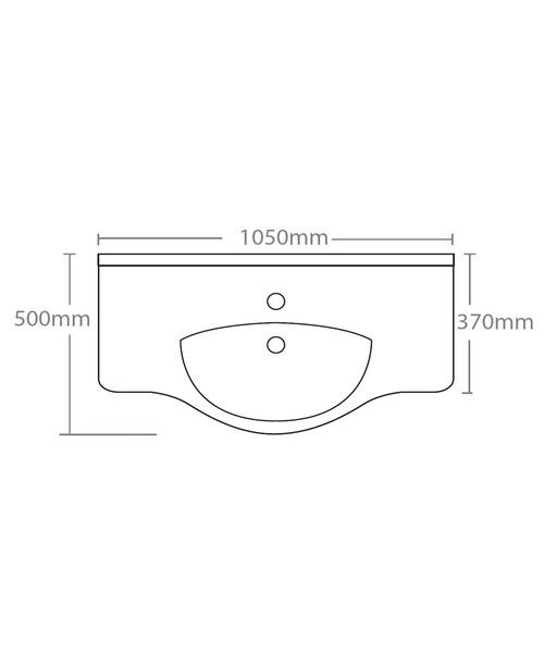 Technical drawing 15242 / EDBT1050W