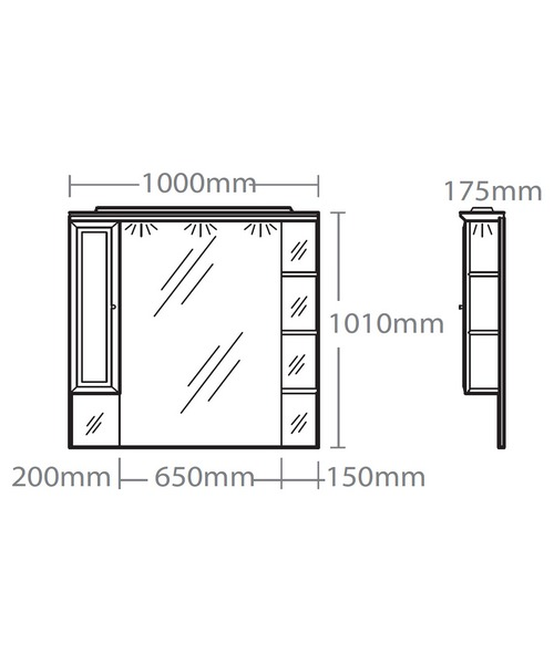 Technical drawing 15243 / CSC1000W