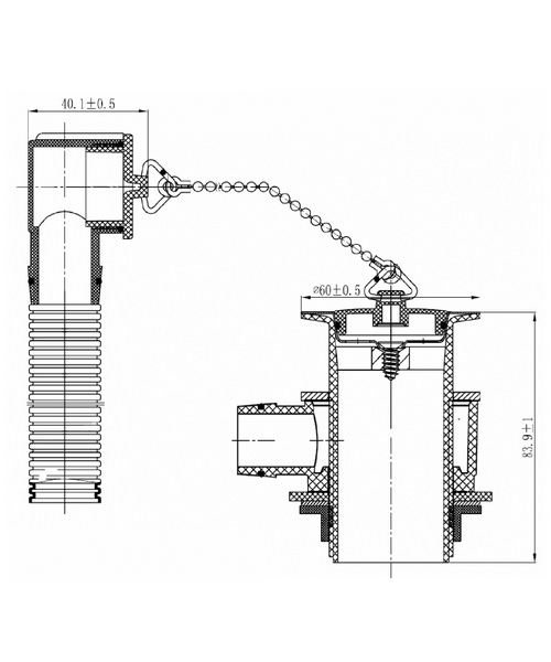 Technical drawing 1615 / W BASIN15 C