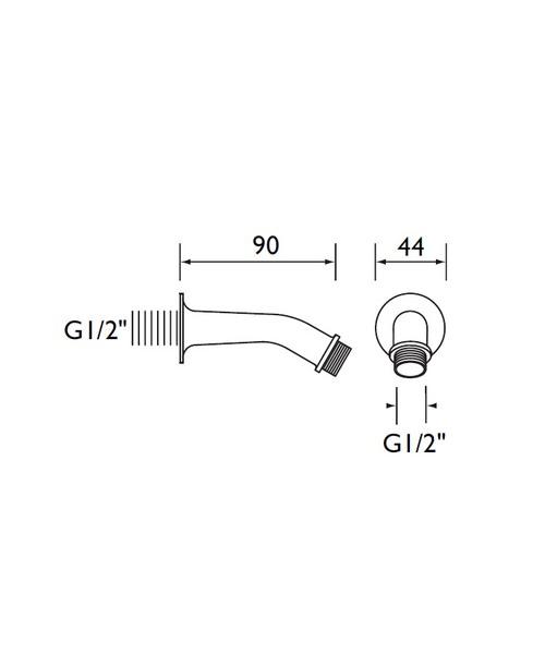 Technical drawing 1703 / SA90CP