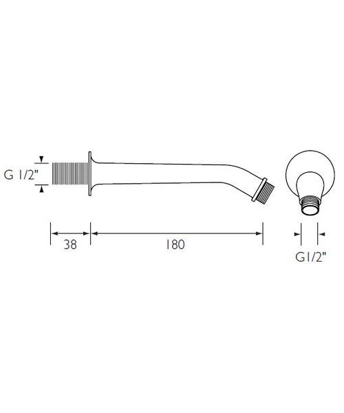 Technical drawing 1704 / SA180CP
