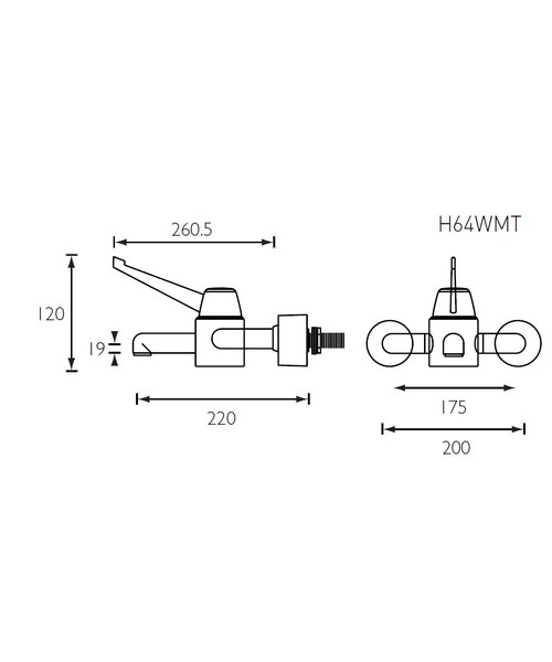 Technical drawing 1722 / H64WMT