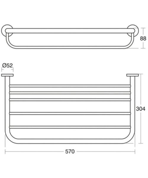 Towel Rack Standard Height: Ideal Standard IOM Chrome Plated Bath Towel Rack