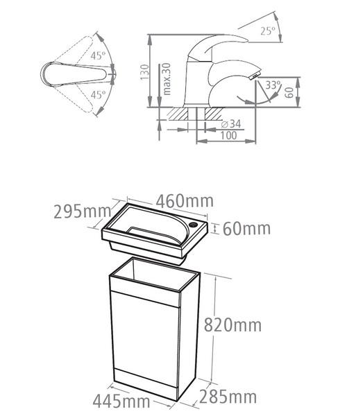 Technical drawing 18217 / ESVB45AW