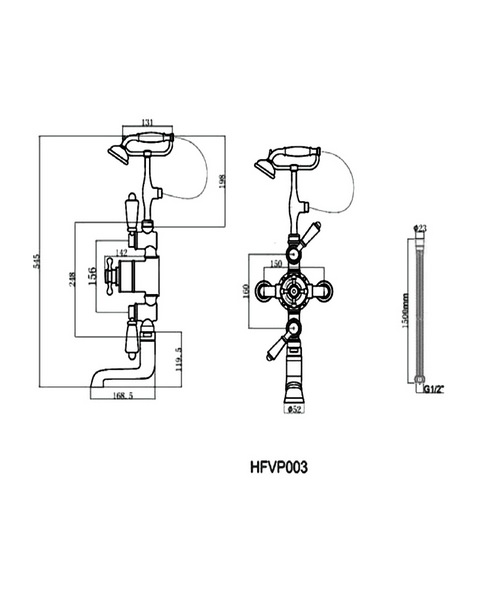 Technical drawing 1889 / HFVP001