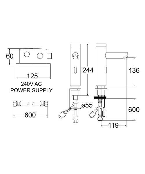 Technical drawing 19381 / SENSOR4/D