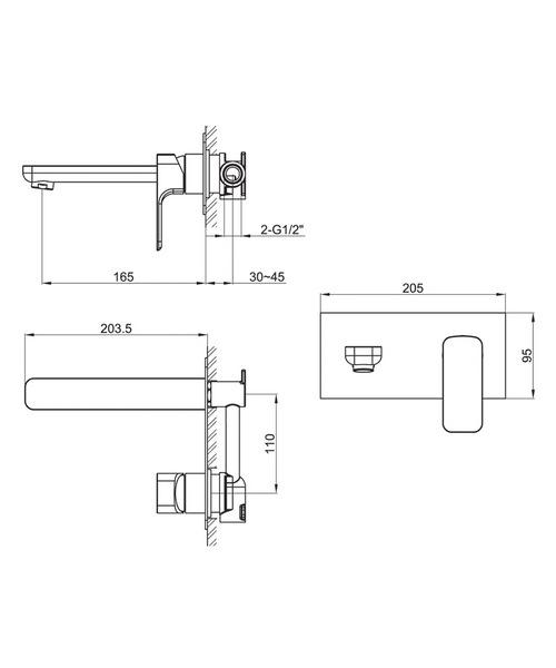 Technical drawing 19873 / FL2HWMBAS