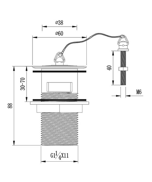 Technical drawing 19936 / BW101