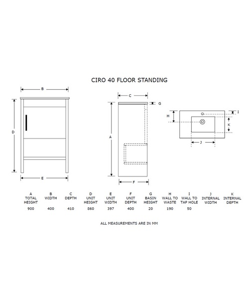 Technical drawing 21073 / FI40F