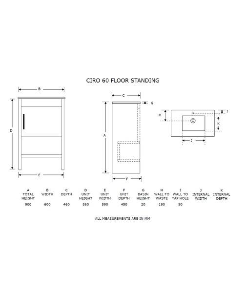 Technical drawing 21074 / FI60F
