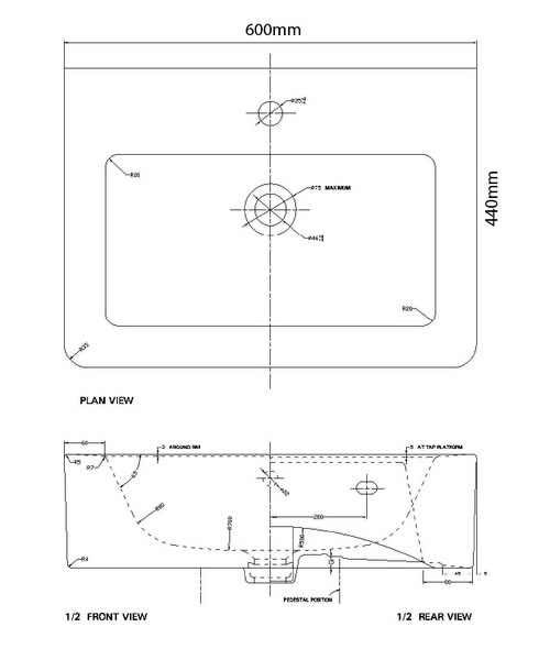 Technical drawing 21182 / QU004