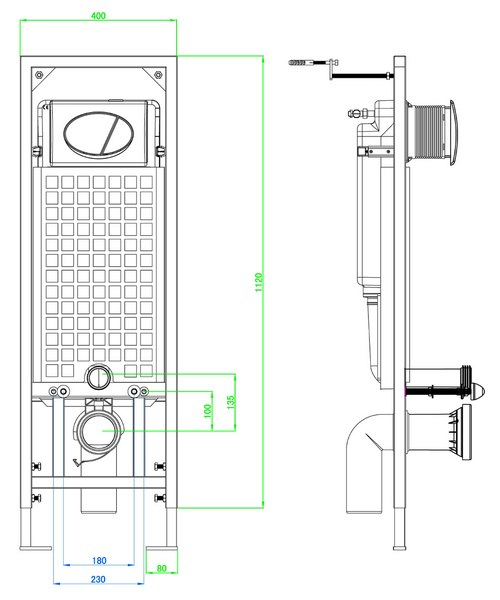 Technical drawing 21226 / BCM1100SQ