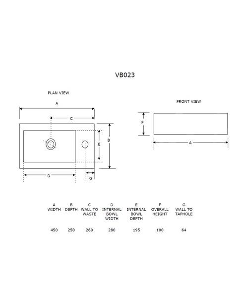 Technical drawing 21300 / VB023
