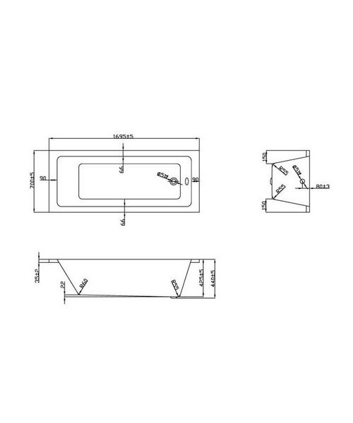 Technical drawing 21365 / BH050